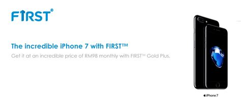 celcom is now offering the iphone 7 and iphone 7 plus with its gold plus plan