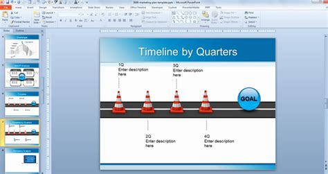 marketing plan timeline template ppt timelinetemplate 第2页 点力图库