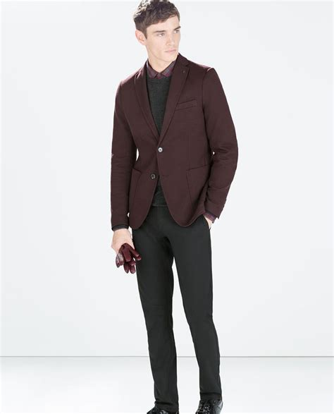 Blazer Zara Maroon 7 best zara mens blazer images on zara