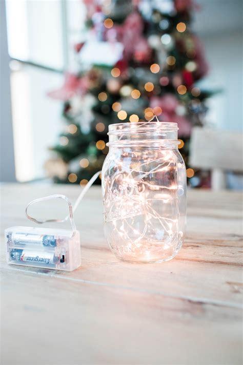 how to make mason jar lights with christmas lights diy mason jar mini christmas snow globe that s under 10