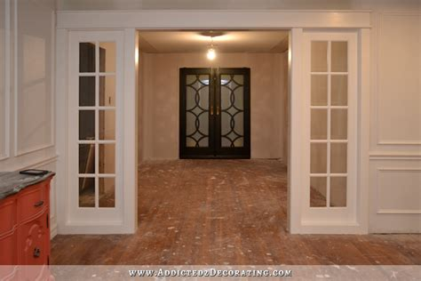 Kitchen Decorating Idea My Finished Stationary French Door Panels