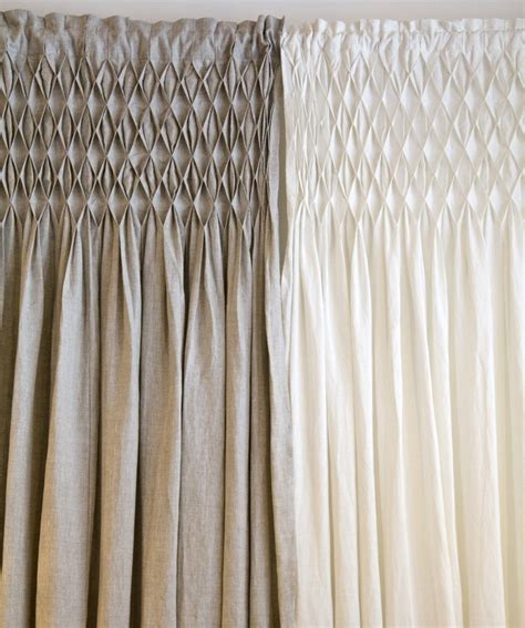 smocked curtains pom pom at home organic smocked curtains www