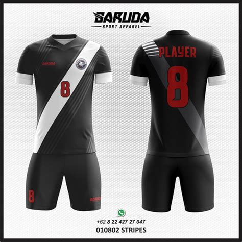 desain baju futsal biru hitam jasa desain kaos futsal hitam putih full print garuda