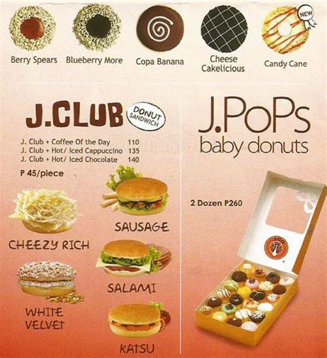 Menu Jco Coffee 1000 images about jco favorite on manila