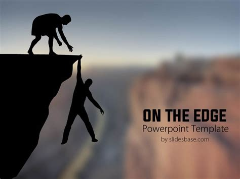 on the on the edge powerpoint template slidesbase