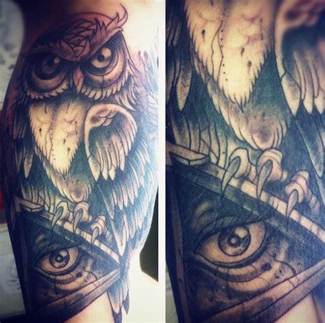 illuminati owl tattoo 100 illuminati tattoos for enlightened design ideas