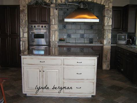 distressed painted kitchen cabinets lynda bergman decorative artisan white kitchen cabinets
