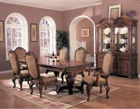 Elegant Dining Room Chairs Antique Style Brown Elegant Dining Room Extendible Table