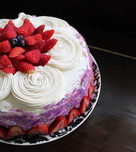 vanilla birthday cake with the best vanilla frosting