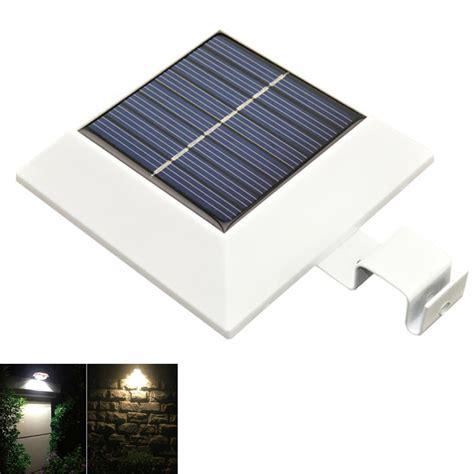 outdoor solar gutter led lights pir motion sensor 150lm 4 led solar power led outdoor