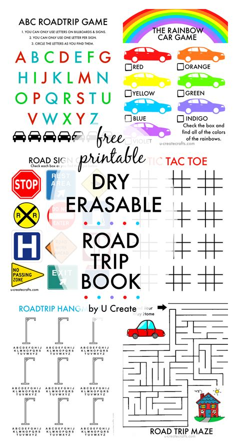 printable road trip games for preschoolers free printable road trip book