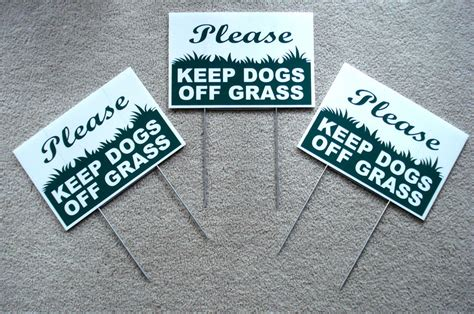 3 Please Keep Dogs Off Grass 8 Quot X12 Quot Plastic Coroplast