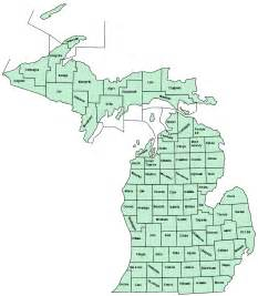 County Map Of Michigan by List Of Counties In Michigan