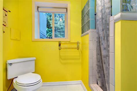 bright yellow bathroom bright yellow bathroom interior stock photo image 43465570