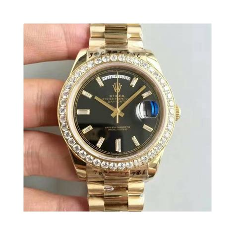 Rolex Diamon Kw replica rolex day date 40 228398tbr 40mm kw yellow gold