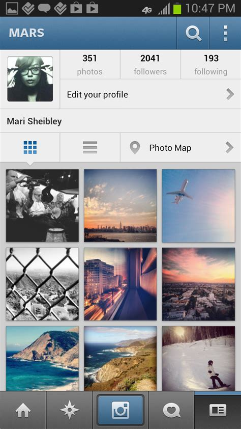 instagram mobile instagram screenshots mobile patterns