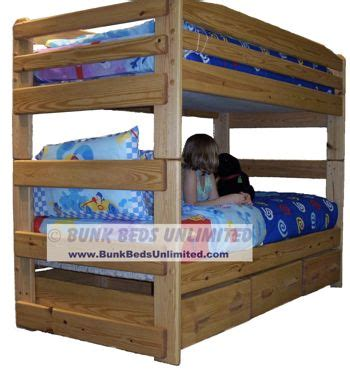 Bunk Beds Unlimited 10 Bunk Bed Plan Stackable With Large Storage Dra