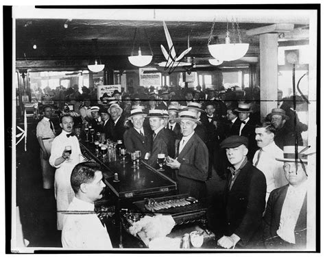 Records Before 1919 Interior Of A Crowded Bar Moments Before Midnight June