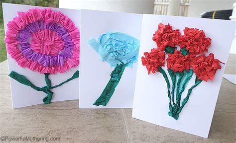 How To Make A Paper Flower Card - crepe paper flower cards