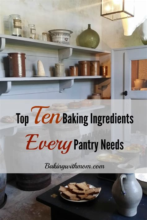 Ingredients Pantry by The Top 10 Baking Ingredients Every Pantry Needs