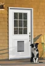 Exterior Door With Doggie Door Jeld Wen Unleashes Pet Doors Window Door