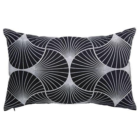 cuscini bianchi cuscino in cotone con motivi neri e bianchi 30x50cm oliana