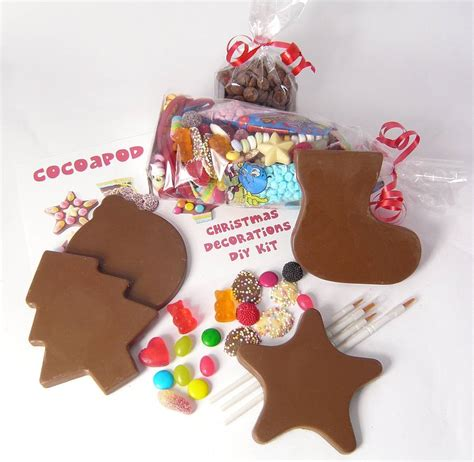 Handmade Chocolate Decorations - chocolate decorations diy kit by chocolate by