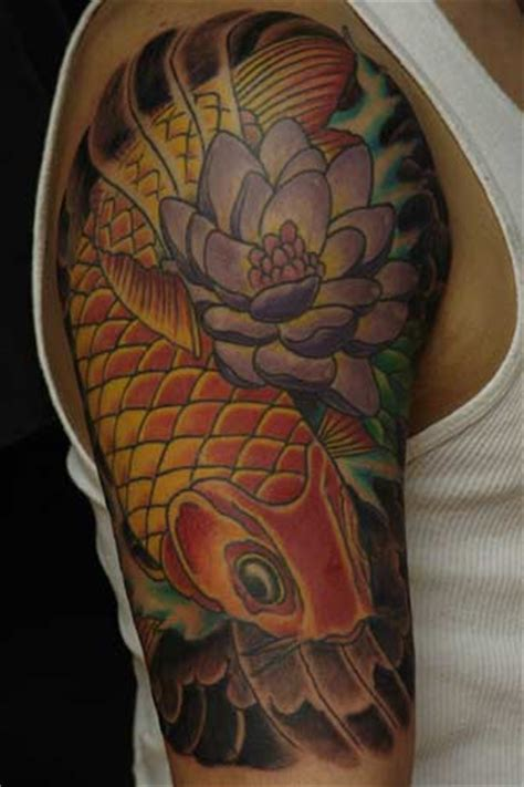 koi carp half sleeve tattoo designs koi sleeve designs sleeve