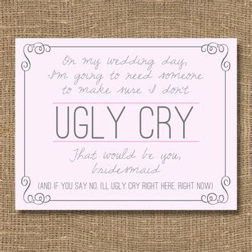 Shop Be My Bridesmaid Invitation Cards On Wanelo Will You Be My Bridesmaid Letter Template