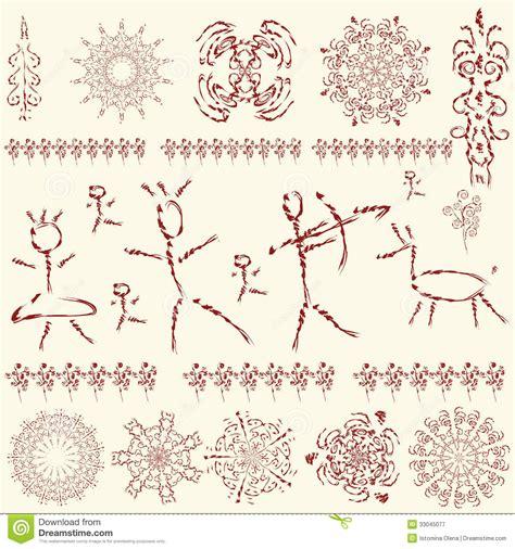 pictures design the set of primitive art design elements royalty free
