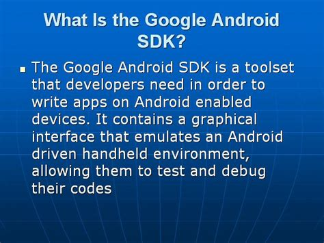what is android sdk most important android questions with answers testingbrain