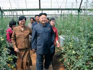 Kim Jong un gets a guided tour of an indoor vegetable farm