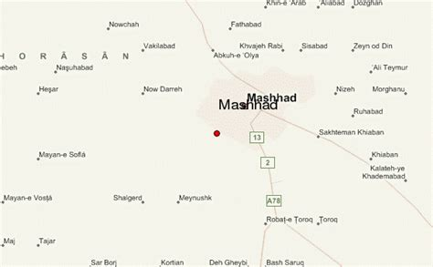 mashhad map mashhad location guide