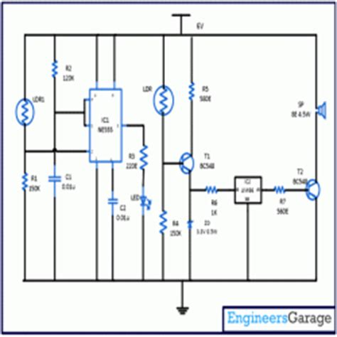 day and indicator using ic 555 circuit diagram