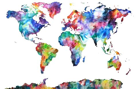 colorful world map quot colourful world map quot by jenfranslay redbubble