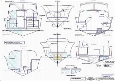 sections of a boat classic power day boat by lidgard yacht design australia