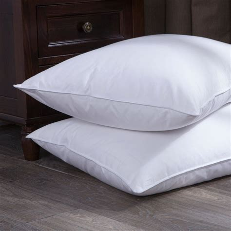 size pillows puredown white goose and feather bed pillow set of 2