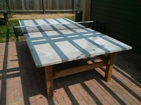 build  concrete ping pong table