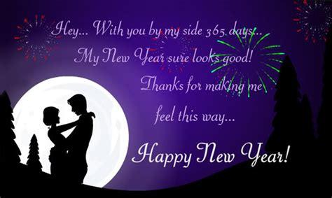 year wishes  boyfriend romantic  year messages