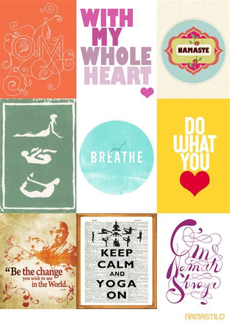 printable yoga quotes inspiring yoga art prints collection namastilo