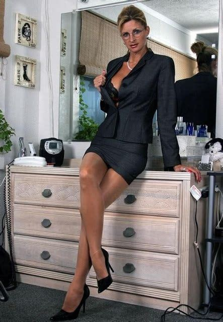 stockings under suit black skirt suit stockings and high heels things to wear
