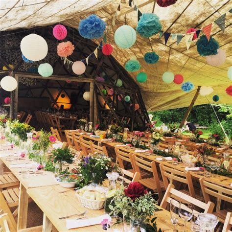 festive decoration company rustic festival wedding venue north devon tents events