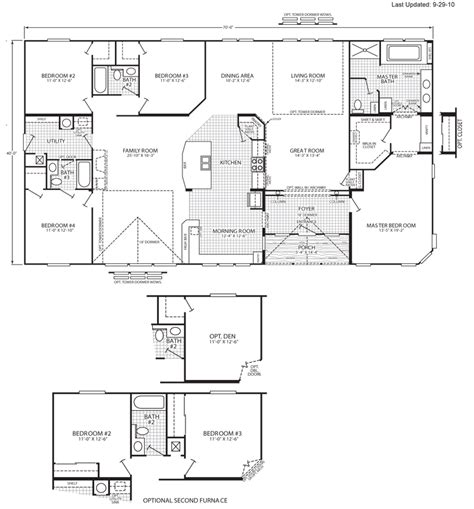 5 bedroom modular homes floor plans 5 bedroom triple wide mobile home floor plans