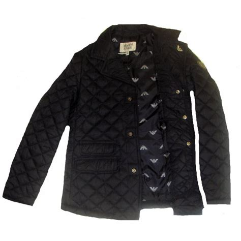 Boys Quilted Coat by Armani Boys Navy Quilted Jacket