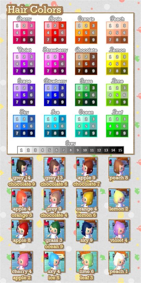 acnl hair color guide best 25 animal crossing hair ideas on new