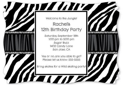 free printable zebra stripe party invitations zebra print personalized party invitations the kid s fun