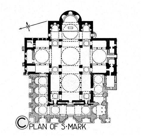 greek cross floor plan late byzantine architecture plan of basilica san marco