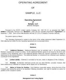 Operating Agreement Llc Virginia Template Sample Llc Operating Agreement