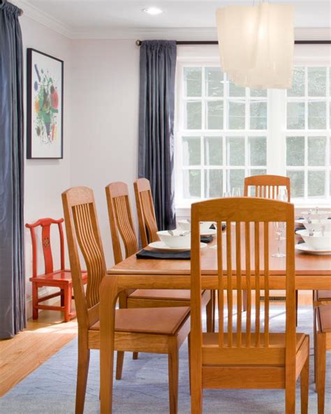 contemporary dining room  craftsman style table