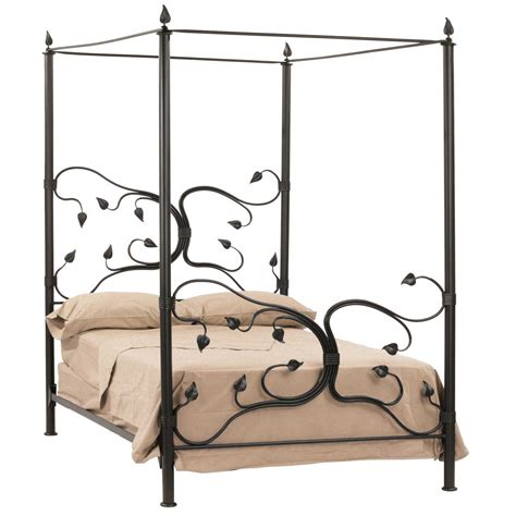 rod iron bed frame wrought iron eden isle canopy bed timeless wrought iron
